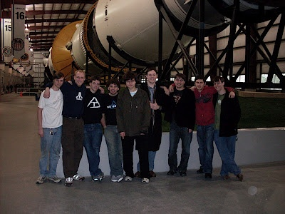 Triangle Fraternity Brothers at NASA in Houston