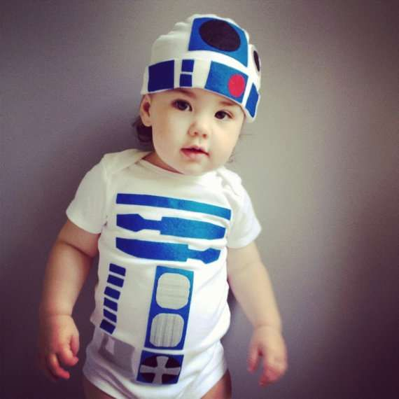 Nerdy Newborn Ensembles - Give Your Kid a Geeky Look with This R2d2 Toddler Costume (GALLERY)