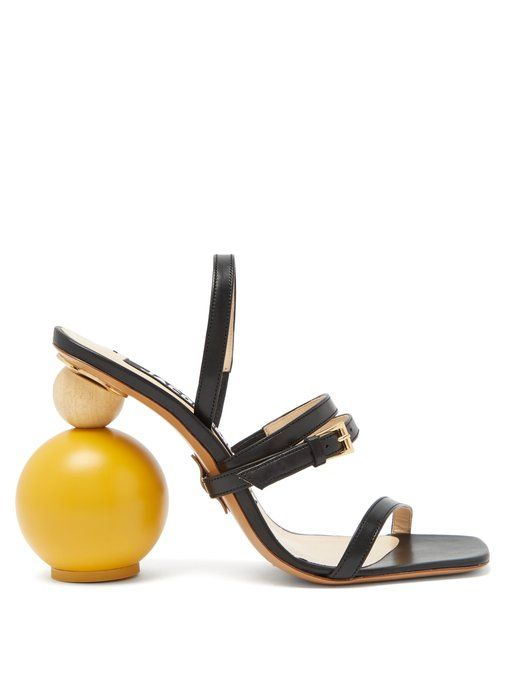 5e284e93387 Jacquemus Bahia ornamental-heel leather sandals