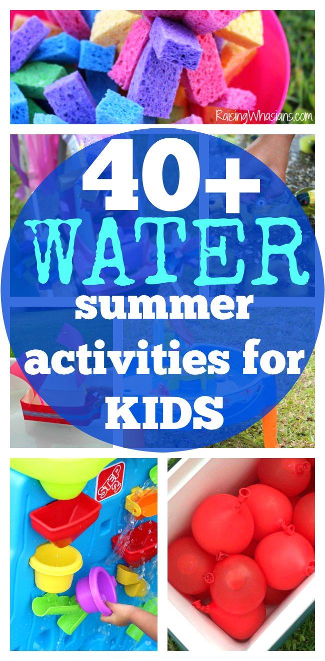 40+ Water Summer Activities for Kids + Printable Checklist | List of FUN summer activities for kids with water play ideas + FREE printable checklist (AD)