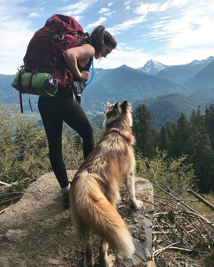A girl, her dog, a backpack, what's not to love… – # – Trekking