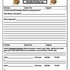 Weekly Reading Log with CAFE Strategies This reading log is an effective tool that allows students to practice some of their CAFE strategies and grammar skills, while reflecting on their reading. *FREEBIE*