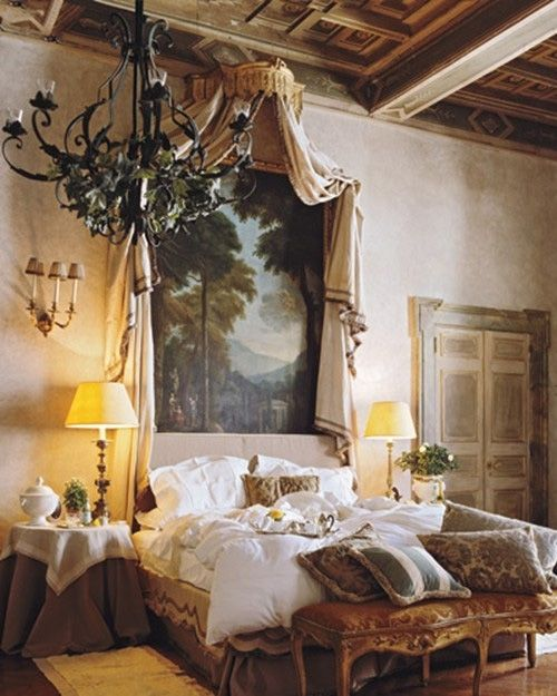 Love The Wall Finishes Chandelier And The Overall Tuscan: I Have A Huge Mural Of An Old Tuscan Villa Looking Onto A