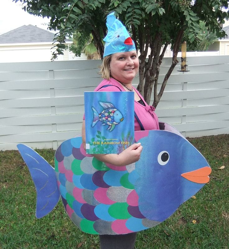 Rainbow fish costume for children 39 s book character dress for Kids fish costume