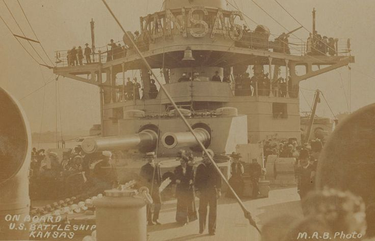 On board United States Navy battleship Kansas. Great White Fleet visit, 1908. Mitchell Library, State Library of New South Wales: http://www.acmssearch.sl.nsw.gov.au/search/itemDetailPaged.cgi?itemID=75758