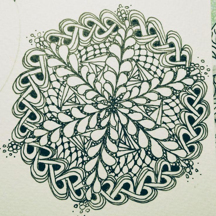Zentangle met varen-patroon