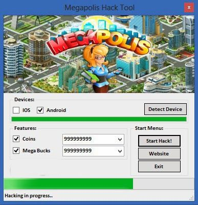We present to you now Megapolis, an awesome and addictive mobile game available on Android and iOS platforms. Megapolis Hack Tool is undectable and easy to use with antiban protection. You can use our Megapolis Hack Tool and obtain infinite Coins and a lot of Megabucks. With our help you can upgrade