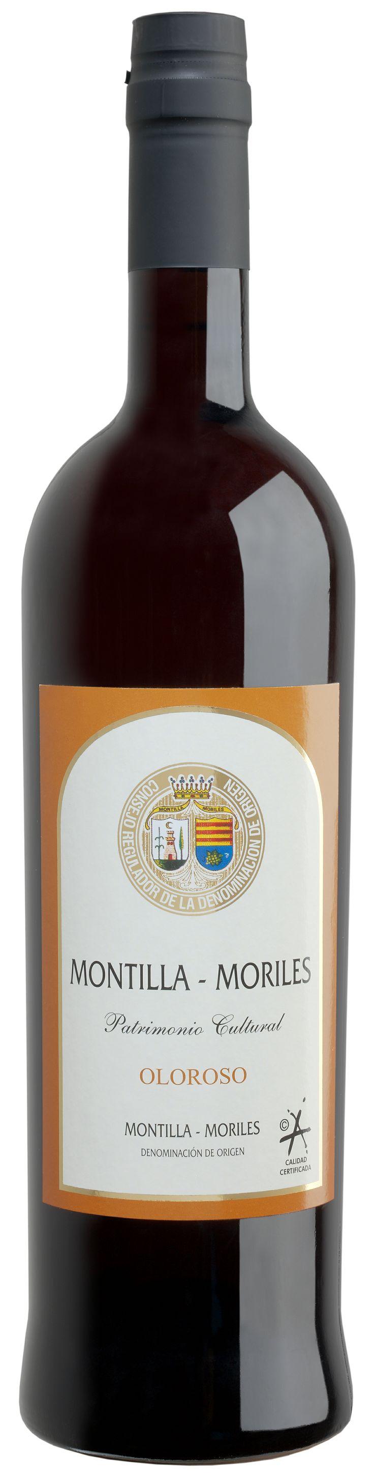 Botella de vino oloroso gen rico de la dop montilla - Botelleros de vino ...