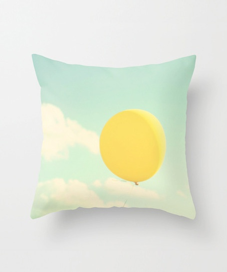 Balloon's Escape Pillow Cover - So Pretty, Love the colors & the design makes me wish I was there!  #pillow #livingroom #home #bedding #decor