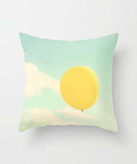 Balloon's Escape Pillow Cover - So Pretty, Love the colors & the design makes me wish I was there!  #pillow #livingroom #home #bedding #decor