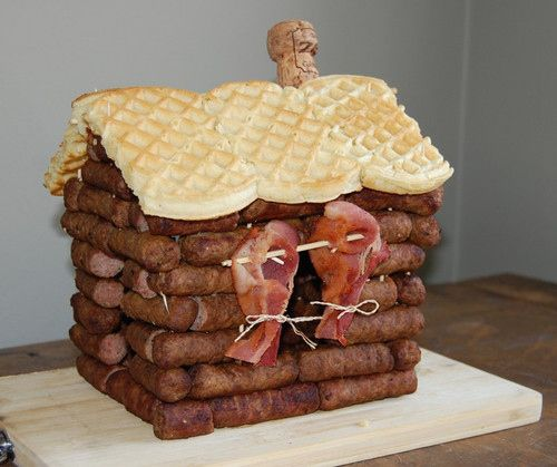 A sausage house: inside it has stilton, apple and a touch of mustard under the west window.