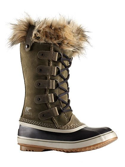 Sorel waterproof suede-and-faux-fur boots | allure.com