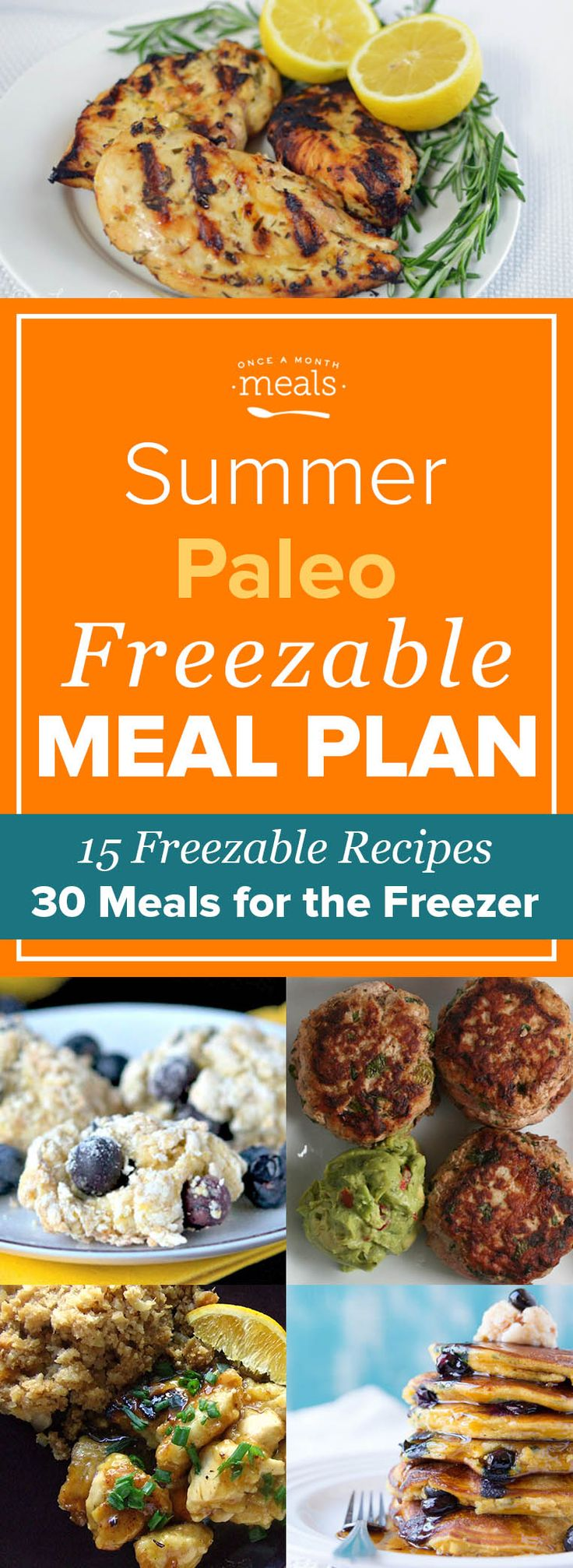 Enjoy more time outdoors with our Summer Paleo Freezer Menu! With easy to reheat breakfasts and lunches you can have homemade meals on even the busiest days.