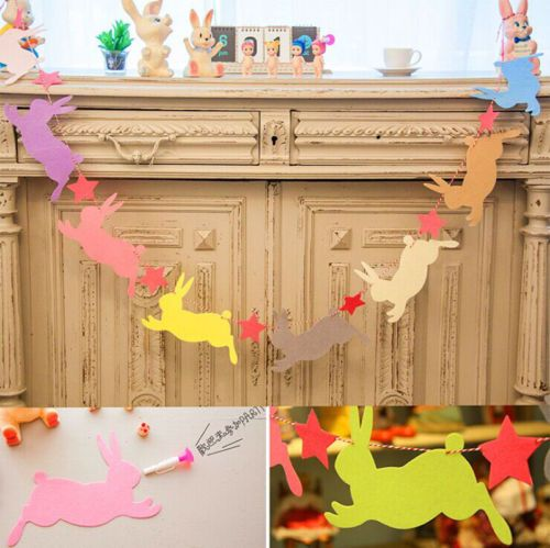Cute bunny rabbit #easter kids #birthday party garland flag banner bunting #decor,  View more on the LINK: http://www.zeppy.io/product/gb/2/252289436419/