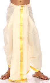 En la India existen dos ropas típicas de vestir, es decir dos trajes, el del hombre que lo llama Dhoti y el Sari, el típico traje de mujer.