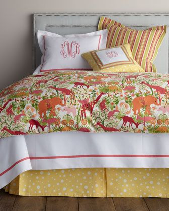 """""""Jungle Boogie"""" Bed Linens by Legacy Home at Horchow. too cute"""