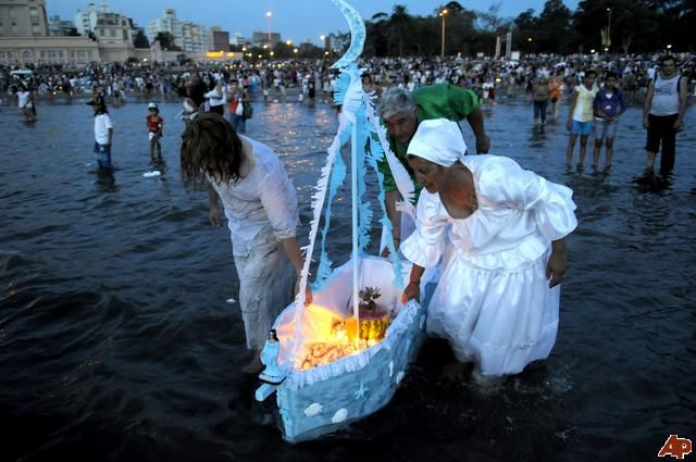 Celebrations for Iemanje, the African goddess of the sea