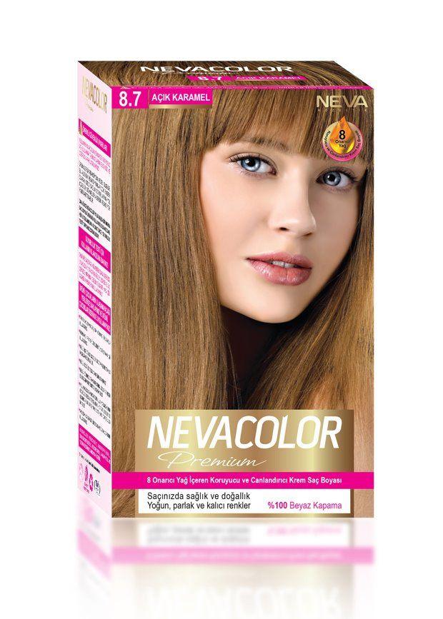 Nevacolor Premium Sac Boyasi 8 7 Acik Karamel Sac Boyasi Sac
