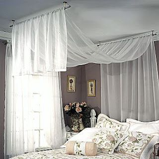 Or this one -- curtain hardware from JC Penney made specifically to hang from ceiling.