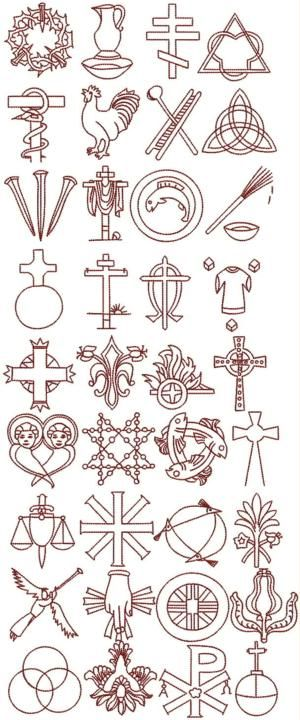 Advanced Embroidery Designs - Christian Symbol (Chrismon) Set
