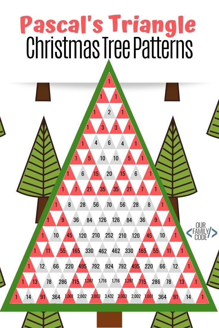 Pascal S Triangle Christmas Tree Patterns Math Activity Math Patterns Pascal S Triangle Christmas Tree Pattern
