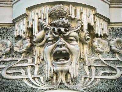 Mascs of Art Nouveau in Riga, Latvia