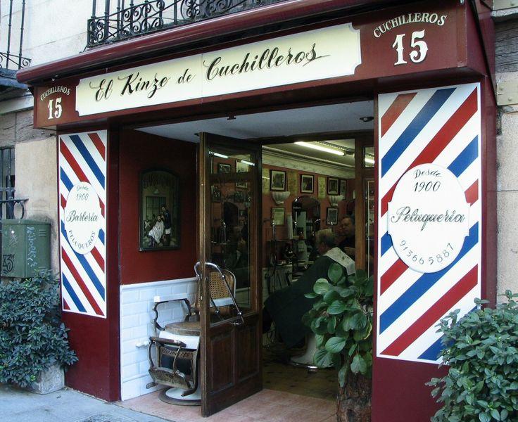 116 best images about fachadas comercios antig os on - Fachadas de peluquerias ...