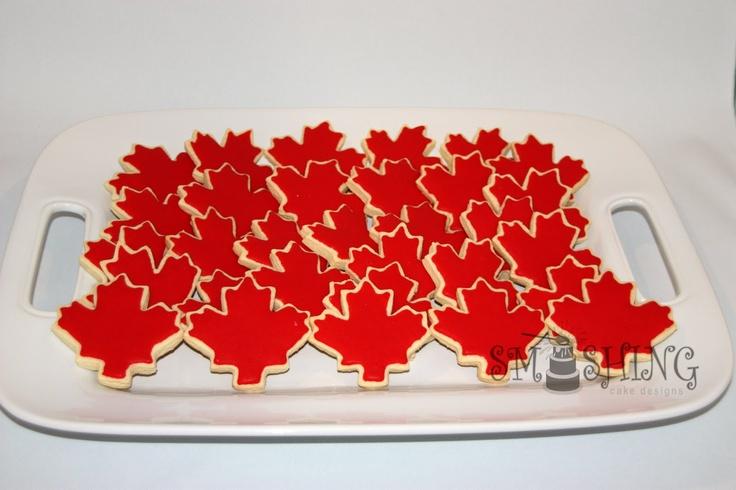 biscuits pour la fête du Canada / Canada Day cookies