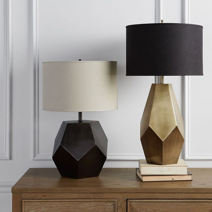 Swipe to switch on our bezier lamps this geometric marvel comes in pewter or gold
