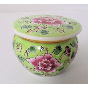 lime green jar with lid