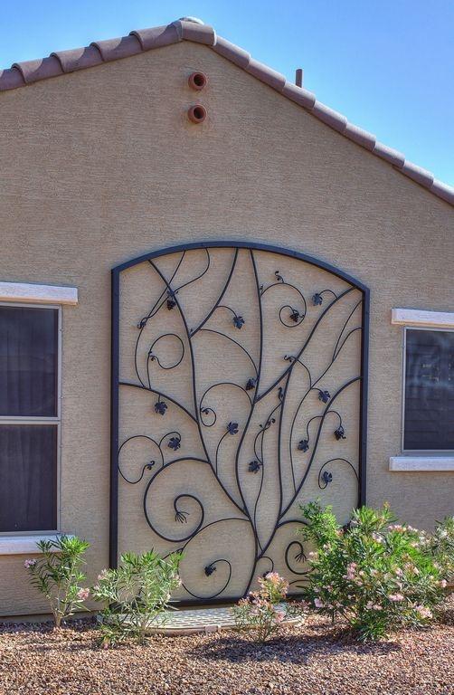 Outdoor Wrought Iron Decor