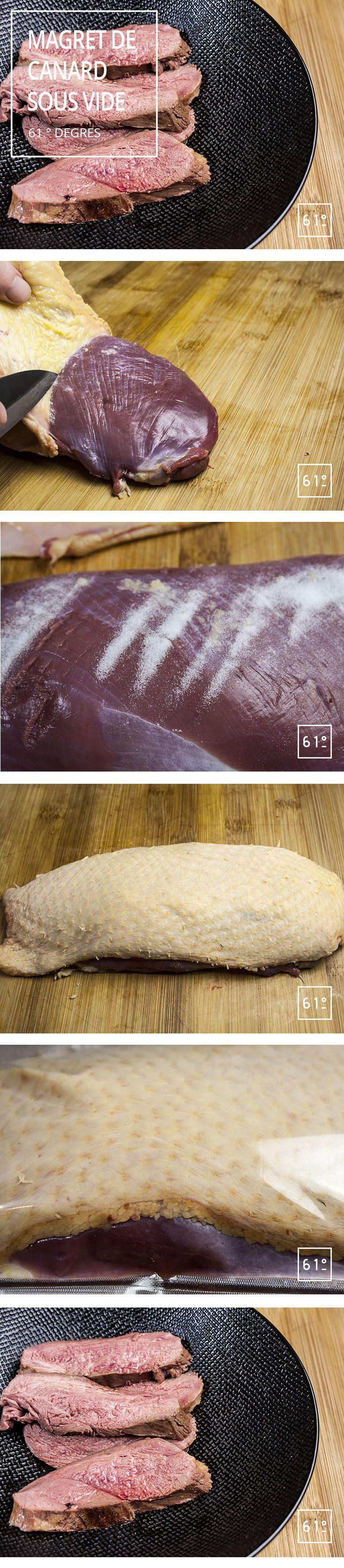 La dernière fois que l'on vous a parlé de magrets de canard, ils étaient séchés par nos soins.😍  Et bien cette fois-ci nous vous proposons un filet de canard (ou deux) cuit à basse température pour garder tout son goût intact.😋  En plus vous allez découvrir une super technique pour gérer facilement la peau du magret après la cuisson.😉  #magretdecanard #sousvide #cuisinemoderne #cuisnegastronimique #recette #bassetemperature
