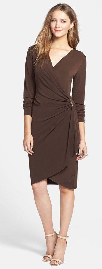 MICHAEL Michael Kors Embellished Faux Wrap Dress