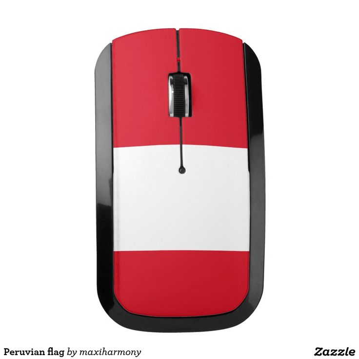 Peruvian flag wireless mouse