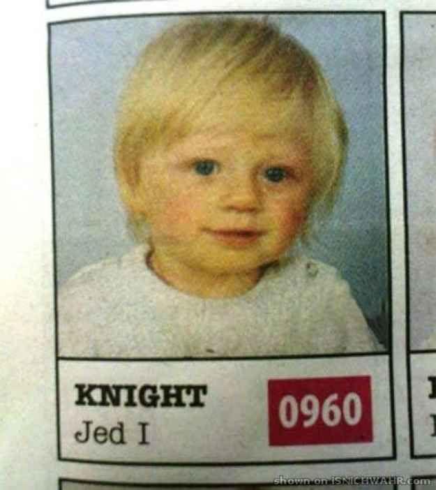 You've got to admire parents who come up with names like this: