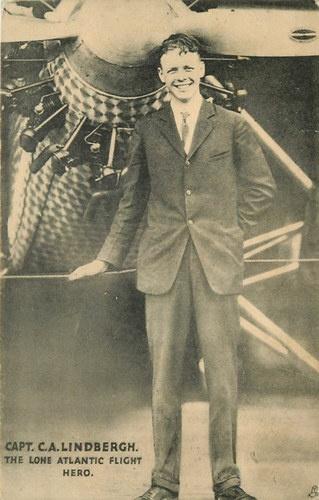 Charles Lindbergh 1927 Spirit of St Louis Airplane Tuck Vintage Postcard