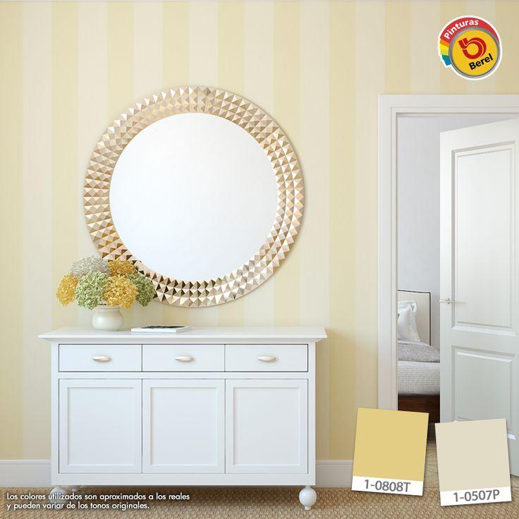Cambia el estilo de tu habitación, decóralo con líneas horizontales #Berel #color #decoracion