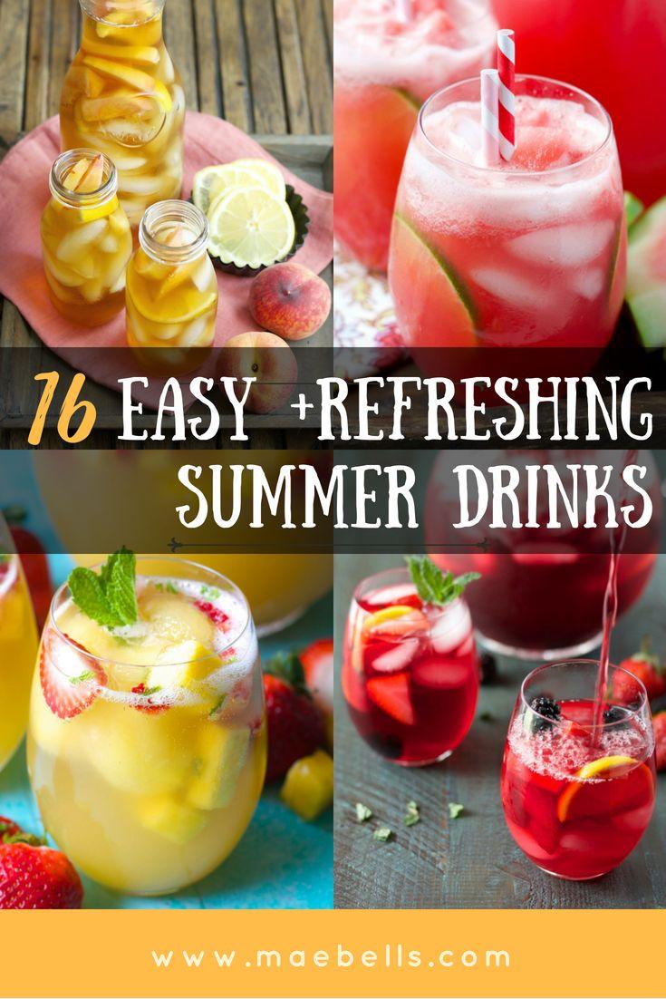 16 Erfrischende Sommergetränke, ohne die Sie nicht leben können – Maebells   – All About Cocktails