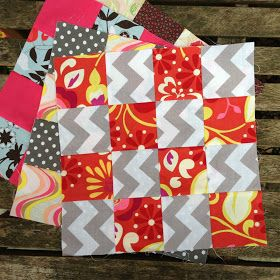 "This is a quick tutorial showing how to make a fast and easy 16 patch quilt block.      To make one 12.5"" unfinished block you need  2 co..."