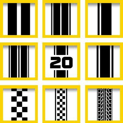 Rennstreifen in allen gewünschten Farben, Materialien und Größen gibt es bei WrapArts.com. Ein Muss für jeden schnellen Fahrer.  #Rennstreifen