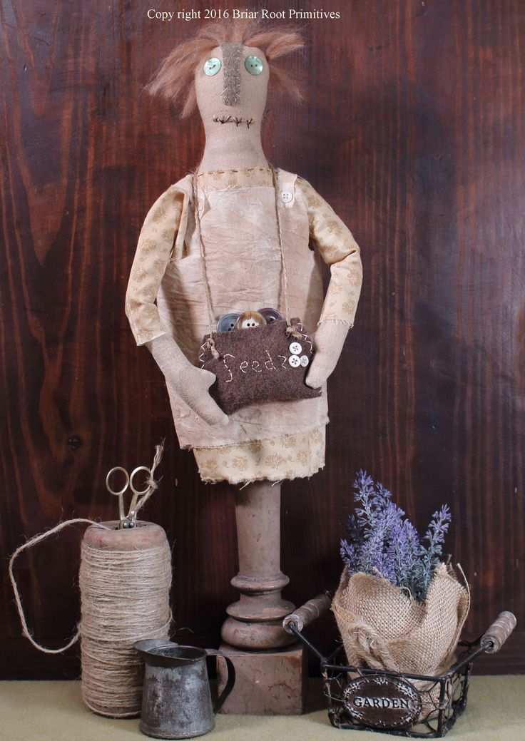Greta Gardens Primitive Doll by Briar Root Primitives | Briar Root Primitives