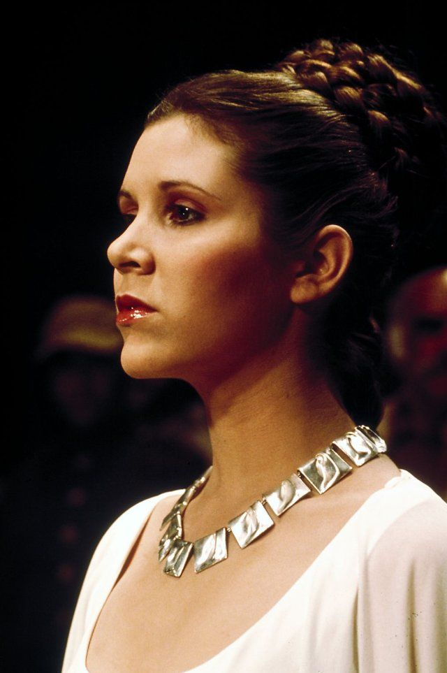 Ever since I was 4 when I first remember seeing Star Wars, I thought Carrie Fisher in this scene was the most beautiful woman ever. She is simply stunning here.