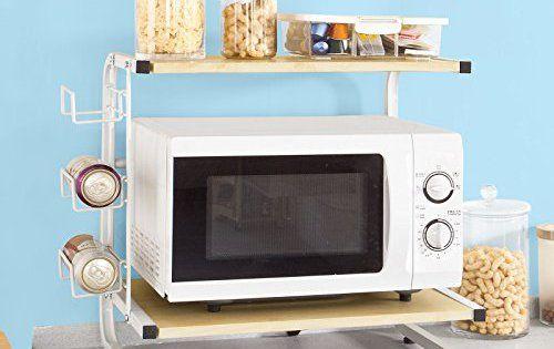 SoBuy® FRG092-N Etagère Four Micro onde, Meuble rangement cuisine de service en bois (L52cmxP35cmx51cm): Meuble rangement cuisine de…