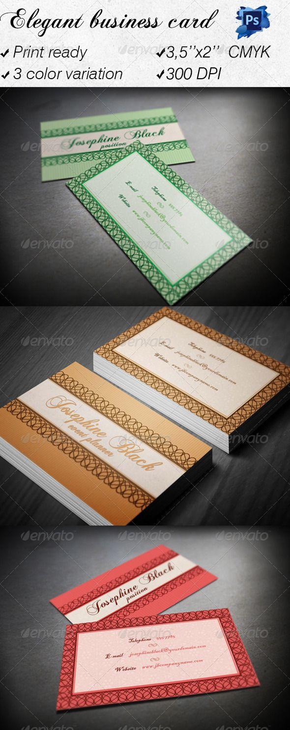 95 best print templates images on pinterest print templates font elegant business card reheart Images