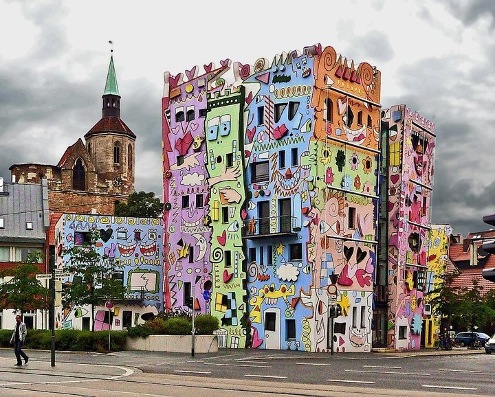 Germany: James Of Arci, Offices Building, Street Art, Happy Rizzi, James Rizzi,  Church Building, Germany, Rizzi Houses, Streetart