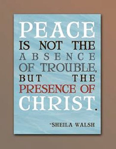 Happy Christmas sms 2016 for Facebook,whatsapp and Pinterest to greet all your friends and family members on Xmas. The quotation reads....Peace is not the absence of trouble, but the presence of Jesus Christ. #HappyChristmasSayings