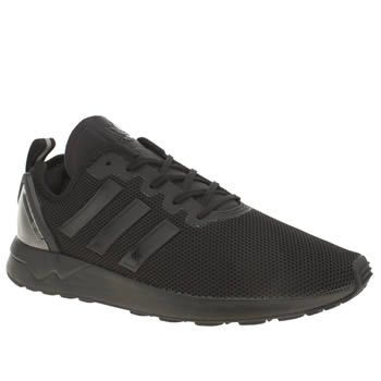 Adidas Black Zx Flux Adv Mens Trainers adidas give their iconic ZX Flux profile a refined update, as it arrives in triple-black for the new season. The ADV features a man-made upper, complete with a transparent heel cage and minimalistic 3 http://www.MightGet.com/january-2017-13/adidas-black-zx-flux-adv-mens-trainers.asp