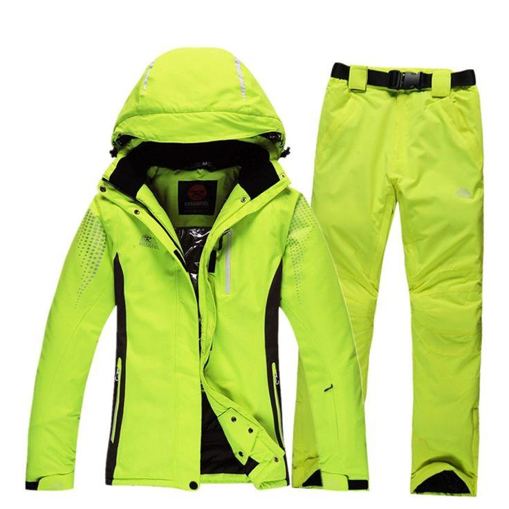 68.97$  Watch here - http://aliyd8.worldwells.pw/go.php?t=32761193542 - 2016 men and women's ski suits Rossignol ski jacket + waterproof winter skiing trousers set unisex outdoor sportwear snow coat 68.97$
