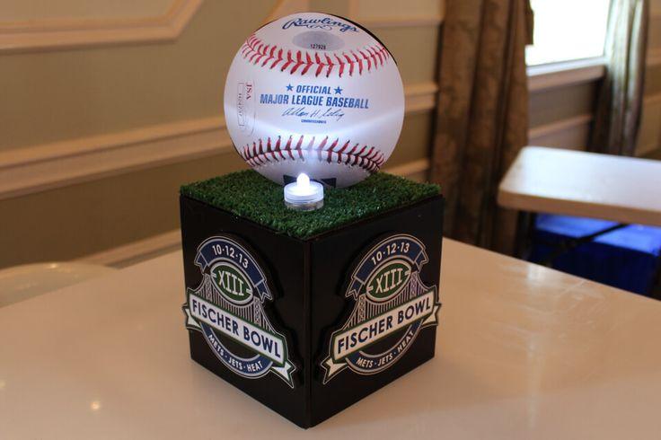 Baseball Centerpiece - High Top & Lounge Centerpieces