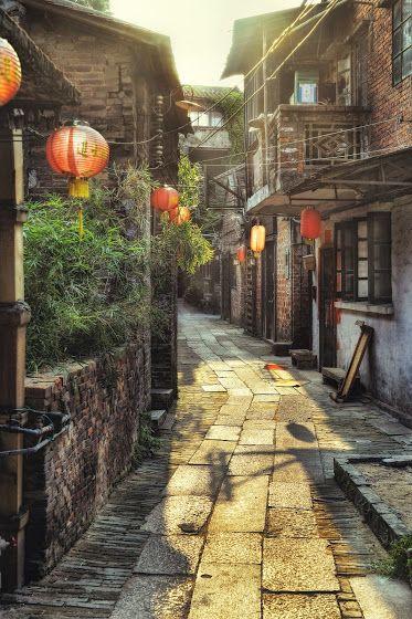China Street: Foshan, China.